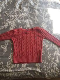 Ralph Lauren Girls Cable Knit Jumper