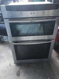 Free built in double neff oven - with fault