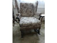 Upholstered rocking chair, free