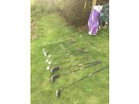 Full sets of golf clubs
