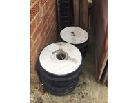 9 Polypipe manhole round lids 325mm and 2 ACCO chanels