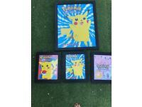 Pokemon picture frame set