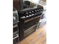 BLACK 60CM ELECTRIC COOKER ( Double Oven)