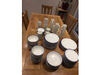 10 plus place setting Blue and White Dinner Set originally from Cargo