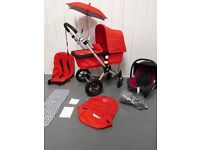 RED BUGABOO CAMELEON 2ND GEN FULL TRAVEL SYSTEM! VGC!