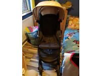 Graco Unisex Pushchair in black and tan, suitable up to 4yrs