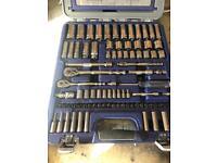 100 pc bluepoint socket set 1/4 3/8