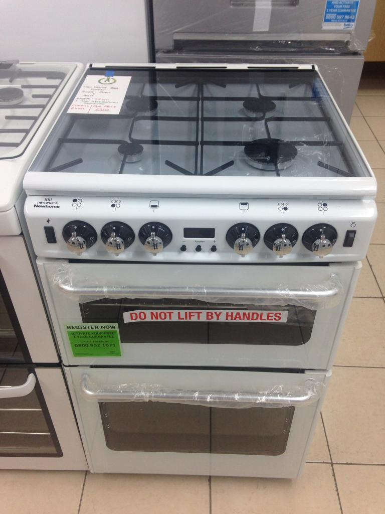 NEW New World 55cm wide gas cooker for SALE with 1 year warrantyin Chingford, LondonGumtree - NEW, NEVER BEEN USEDNew World NH550TSIDLM1 year manufacturers guarantee Width 55cmDouble oven and grillEasy clean enamel oven liners Countdown timer LED display Automatic ignition CALL OR TEXT 07947562762Collection from E4 9LG Delivery and...