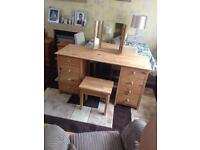 large solid pine dressing table set