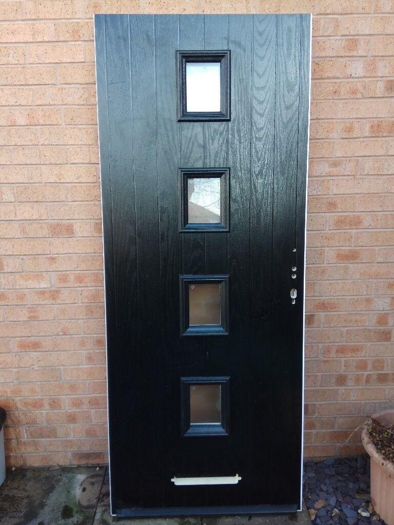 composite external front door black new in mosborough. Black Bedroom Furniture Sets. Home Design Ideas
