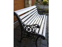 Garden Bench cast iron ends