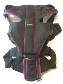 BABYBJORN Baby Carrier Miracle (Black/Purple, Cotton Mix)