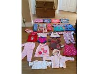 baby girl clothes 3-6, 6-9, 9-12months bundle clean, pet smoke free 24 items all for £8