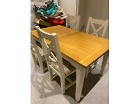 Dining table, chairs, side table, coffee table, tv stand / table