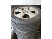 215/55/16 x4 vectra wheels tyres