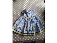 M & S 3-6 month dress.
