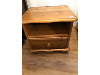Bedside cabinet with bun feet . feel free to view size L 18 in D 15 in H 17 in