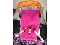 Quinny buzz pink and orange seat unit new born
