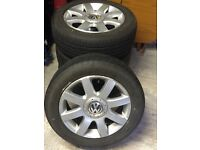 VW golf mk 5 alloys with tyres x4