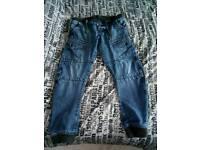 Mens cuffed jeans '' W34'' '' L30''