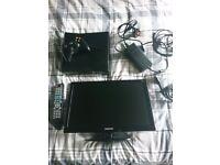 Small TV & Xbox 360 Console with accessories