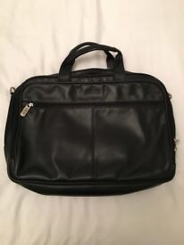 Kenneth Cole Black Leather Bag with shoulder strap