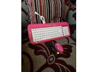 Pink USB keyboard & Mouse