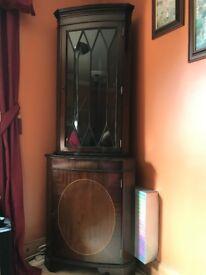 Corner Mahogany Display Cabinet