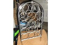 LARGE CHROME SILVER TONE WINE RACK - PICK UP CROYDON AREA / WADDON BR / BY CAR BEST