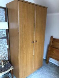 Wood double wardrobe