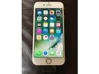 AS NEW IPHONE 7 rose gold 32gb