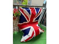 Giant beanbag UK flag