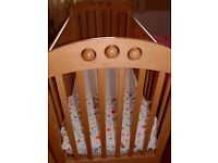 JOHN LEWIS PLAYBEAD COT WITH ARGOS MATTRESS