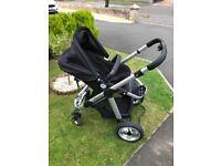 icandy apple 3in1 pram/stroller/maxi cosi car seat