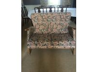 Retro 2 seater sofa and chair