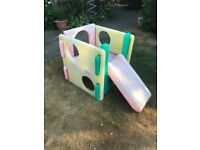 Child's Little tikes play cube with slide