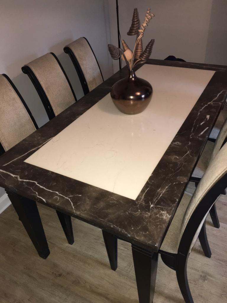 PRATTS SOLID MARBLE TABLE AND CONSOLE UNIT In Hunslet West Yorkshire Gum