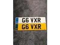 Personalised registration G6 VXR