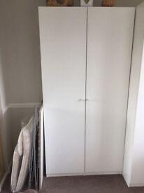 White Pax wardrobe h236 w100 d60 £30