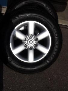BRAND NEW TAKE OFF 2016 NISSAN TITAN 18 INCH ALLOY WHEELS WITH HIGH PERFORMANCE CONTINENTAL 265 / 70 / 18 ALL SESONS