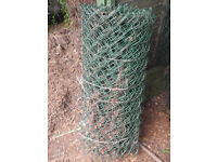 Chain Link Fencing - green plastic coated - 0.9 m