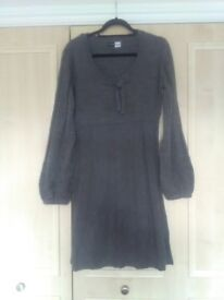 Look again New without tags, Knit Smock Dress in Marl Grey size 18/20 euro size 40/42