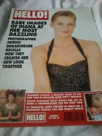 Hello magazine rare images of Diana January 10 1998