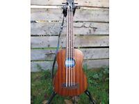 Bass Guitar, Kala U Bass, Fretless, Mahogany, Excellent condition.