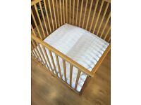 Wooden PlayPen with mattress