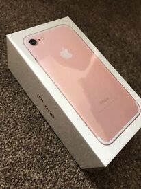 iPhone 7 plus rose gold sealed unlocked, brand new from Apple