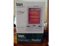 Coopers 1200 watt ocillating Halogen Heater unused