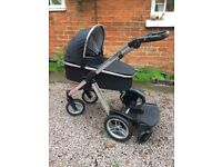 Oyster Max Tandem Pram with Ride on Board £130