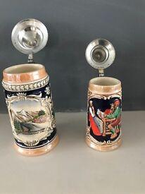 Ornamental original German beer tankers beautiful designed