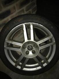 "17"" genuine vw audi seat skoda alloy wheel and tyre"